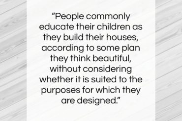 "Mary Wortley Montagu quote: ""People commonly educate their children as they…""- at QuotesQuotesQuotes.com"