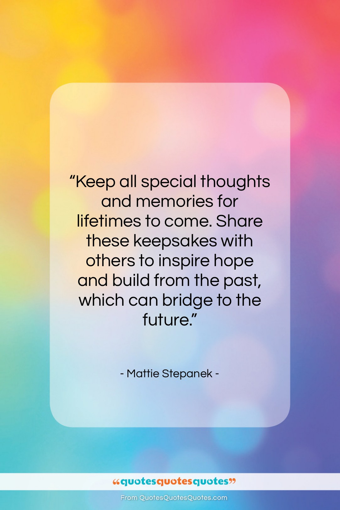 """Mattie Stepanek quote: """"Keep all special thoughts and memories for…""""- at QuotesQuotesQuotes.com"""