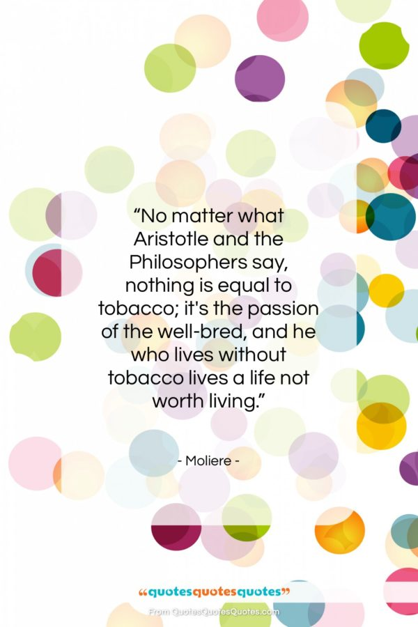 """Moliere quote: """"No matter what Aristotle and the Philosophers…""""- at QuotesQuotesQuotes.com"""