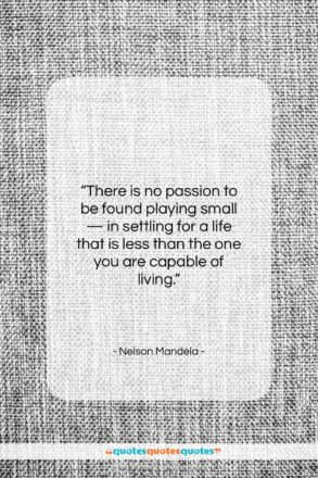 """Nelson Mandela quote: """"There is no passion to be found…""""- at QuotesQuotesQuotes.com"""