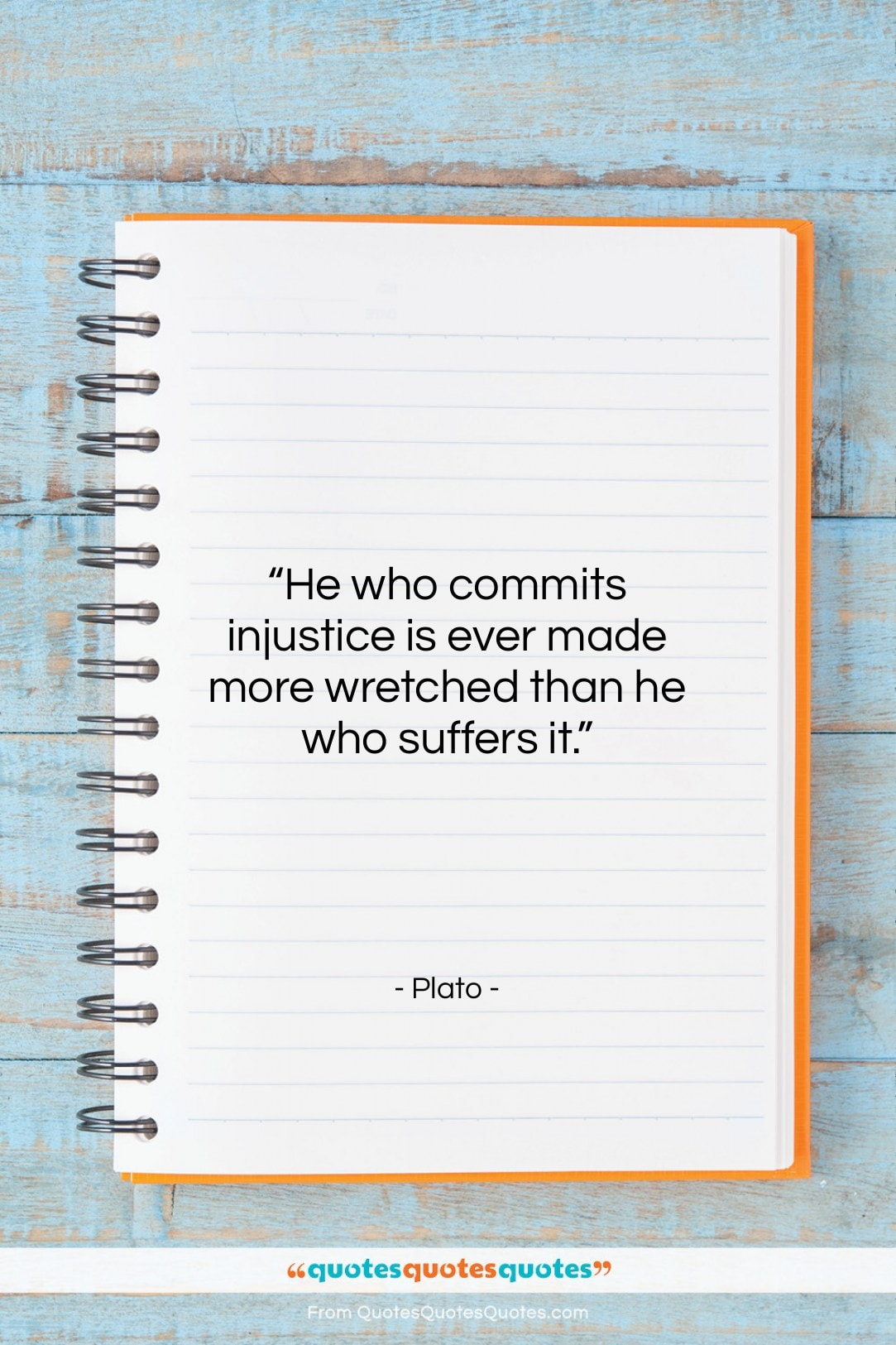 """Plato quote: """"He who commits injustice is ever made…""""- at QuotesQuotesQuotes.com"""