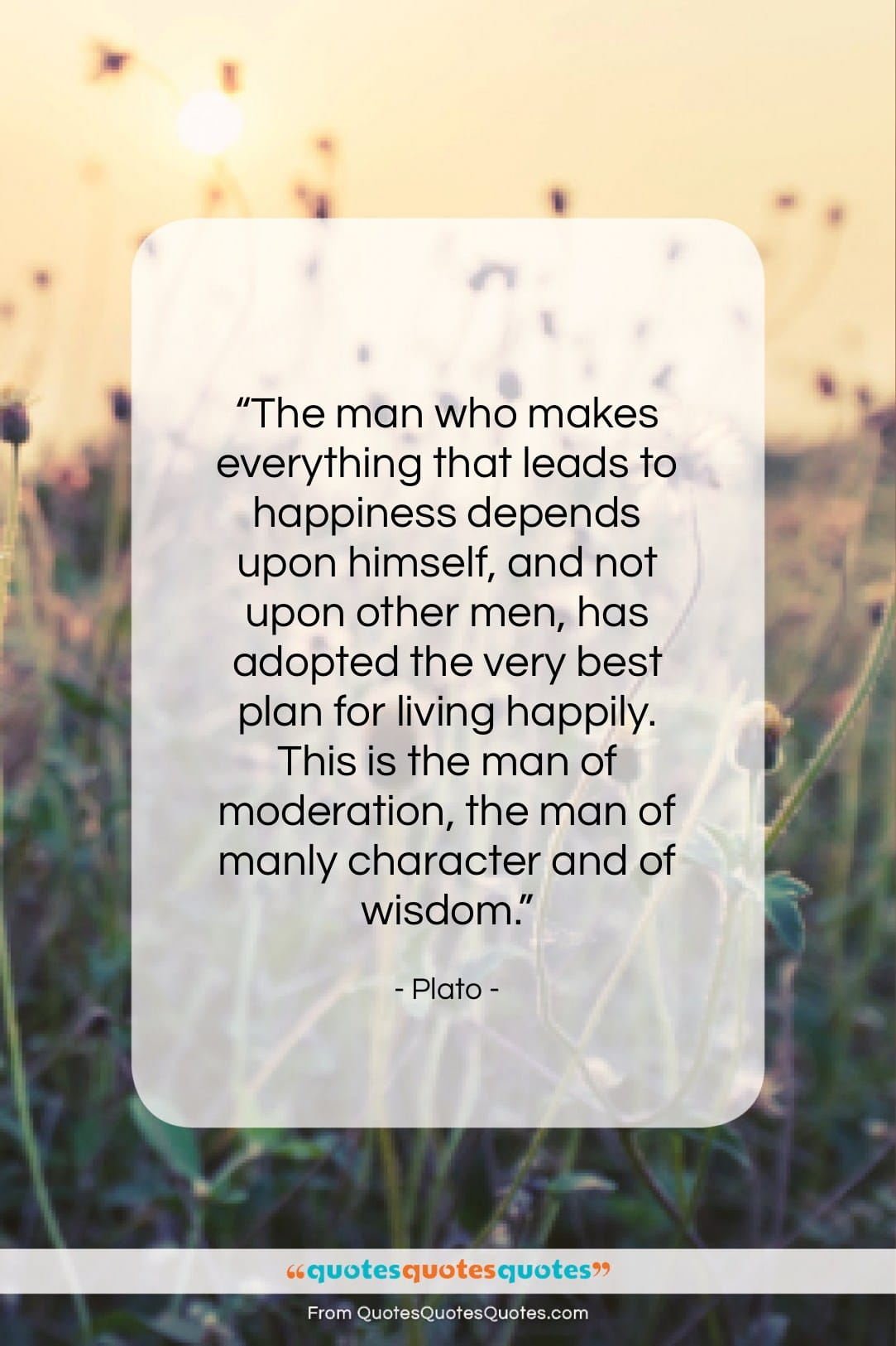"Plato quote: ""The man who makes everything that leads…""- at QuotesQuotesQuotes.com"