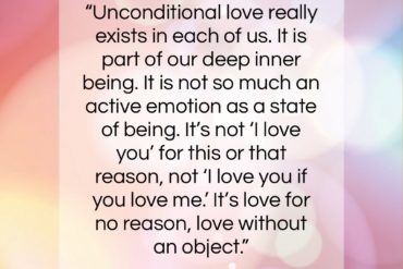 """Ram Dass quote: """"Unconditional lovereally exists in each of us….""""- at QuotesQuotesQuotes.com"""