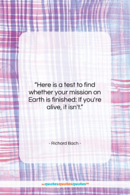 """Richard Bach quote: """"Here is a test to find whether…""""- at QuotesQuotesQuotes.com"""