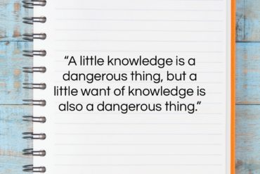 "Samuel Butler quote: ""A little knowledge is a dangerous thing,…""- at QuotesQuotesQuotes.com"