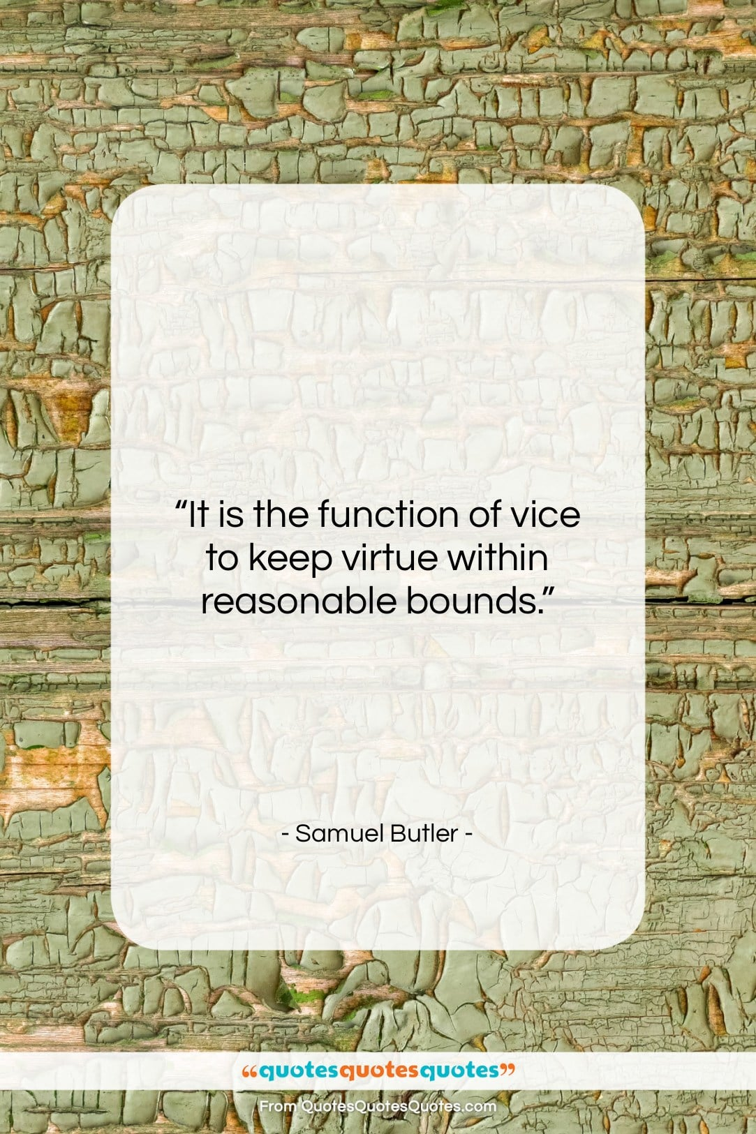 """Samuel Butler quote: """"It is the function of vice to…""""- at QuotesQuotesQuotes.com"""