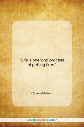 """Samuel Butler quote: """"Life is one long process of getting…""""- at QuotesQuotesQuotes.com"""