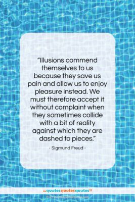 "Sigmund Freud quote: ""Illusions commend themselves to us because they…""- at QuotesQuotesQuotes.com"