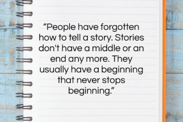 """Steven Spielberg quote: """"People have forgotten how to tell a…""""- at QuotesQuotesQuotes.com"""