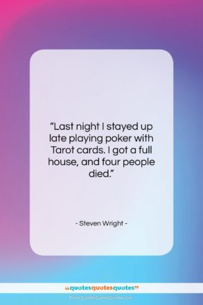 """Steven Wright quote: """"Last night I stayed up late playing…""""- at QuotesQuotesQuotes.com"""