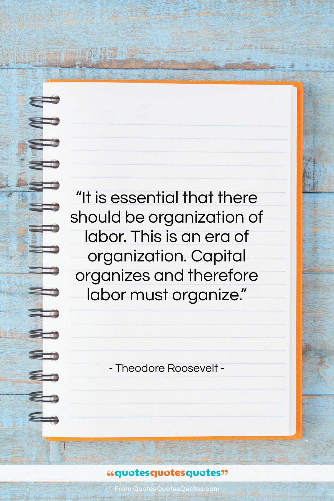 """Theodore Roosevelt quote: """"It is essential that there should be…""""- at QuotesQuotesQuotes.com"""