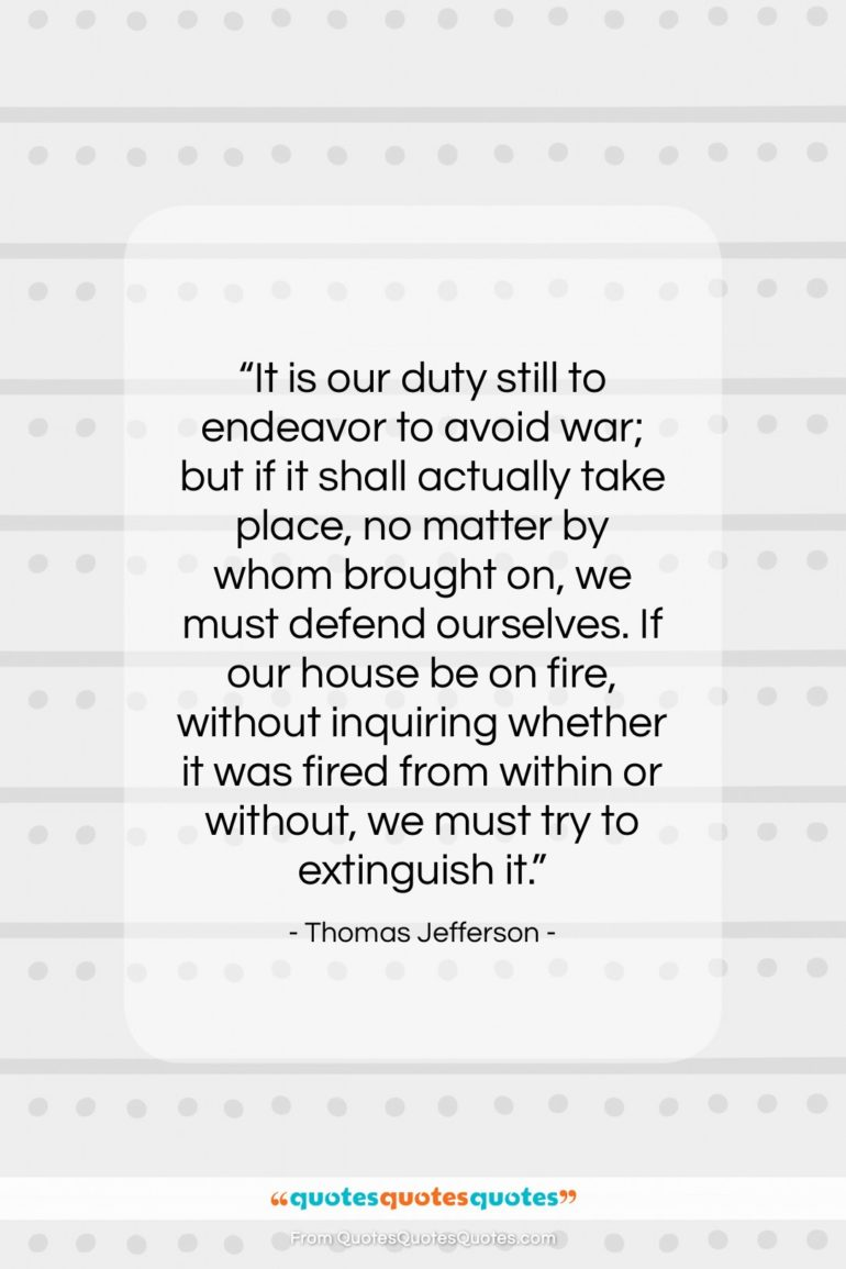 """Thomas Jefferson quote: """"It is our duty still to endeavor…""""- at QuotesQuotesQuotes.com"""