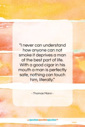 """Thomas Mann quote: """"I never can understand how anyone can…""""- at QuotesQuotesQuotes.com"""